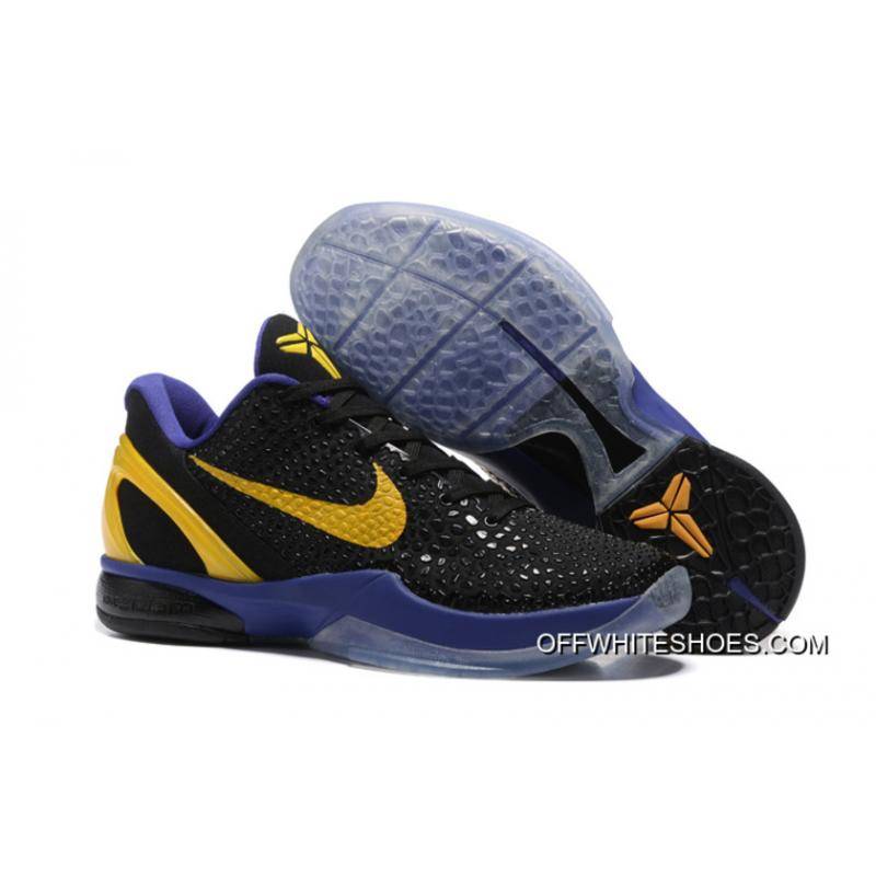 c3587de06b02 new style nike zoom kobe 6 black purple yellow basketball shoes latest  31e4b 14d3b