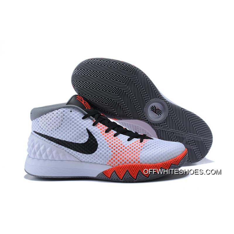 "Free Shipping Nike Kyrie 1 ""Home"" White Black-Dove Grey-Infrared ... 940a3a2eae46"