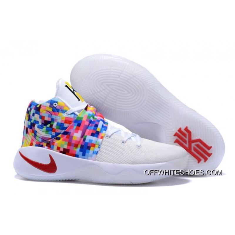 "dcb062e68abd Outlet Nike Kyrie 2 ""Effect"" White-Red Multi-Color ..."