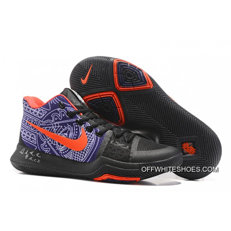 "c7b0a7128220 Off-White Top Deals Nike Kyrie Irving 3 ""Hamsa Hand"" Tattoo Basketball Shoes  ..."