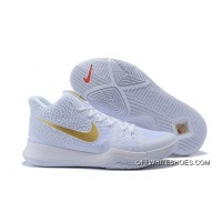 Nike Kyrie 3 White/Metallic Gold Online