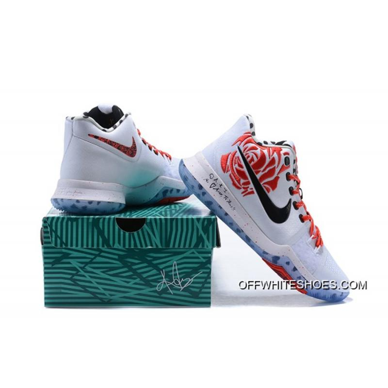 """... New Release Sneaker Room X Nike Kyrie 3 """"Mom"""" White Red Rose 43548cfbe"""
