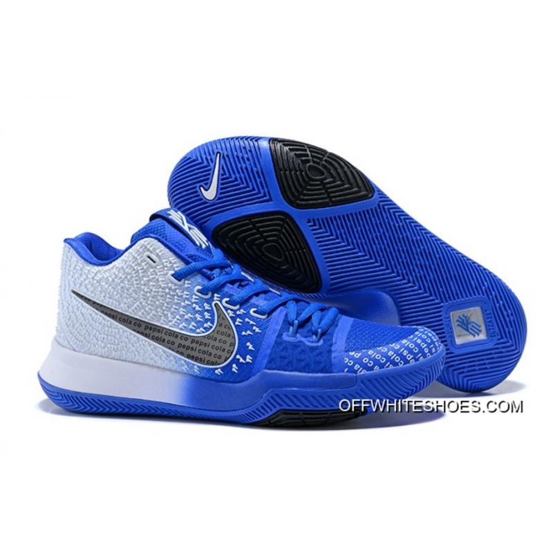 "56e3a0dd1df3 Outlet Nike Kyrie 3 ""Uncle Drew"" White Blue-Black ..."