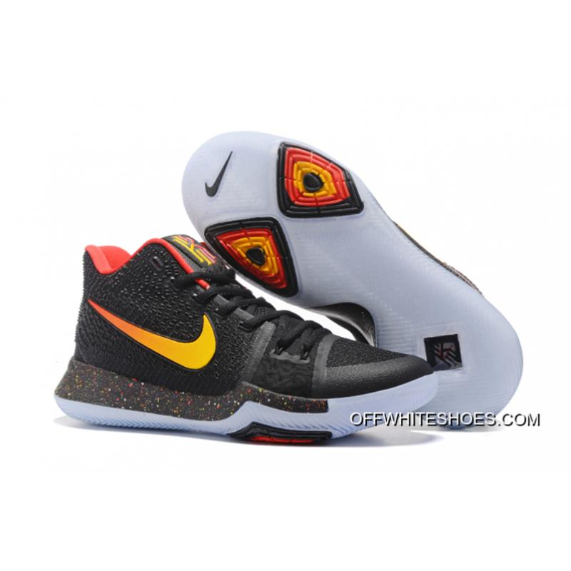 cb8cee65be8 Top Deals Nike Kyrie 3 Black Red Yellow PE ...