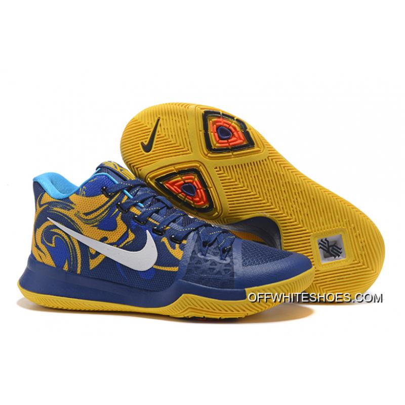 7021b0842fdc Top Deals Nike Kyrie 3 Blue Yellow PE Vs Wizards ...