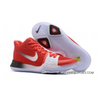 Nike Kyrie 3 Red White Black PE Top Deals