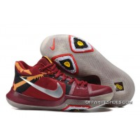 "Latest Nike Kyrie 3 ""Cavs"" Red Yellow Silver Glow In The Dark Sole"