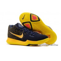 Nike Kyrie 3 Cavaliers Deep Blue Yellow For Sale