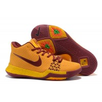 New Style Nike Kyrie 3 Yellow/Wine Red