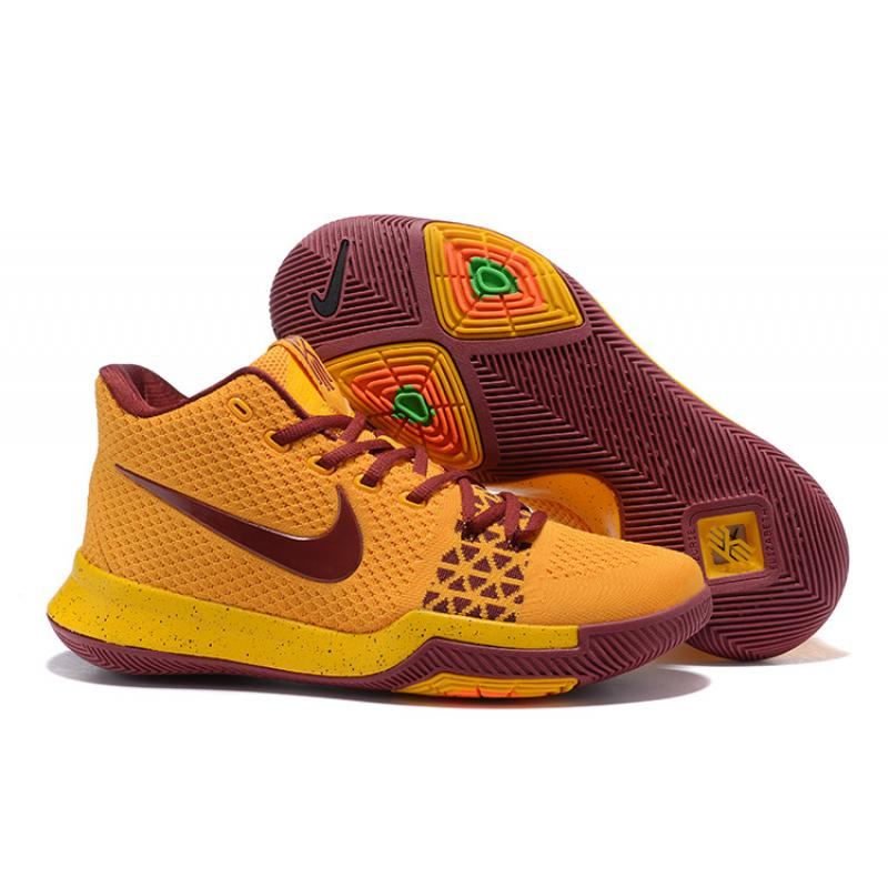 b120648f962 New Style Nike Kyrie 3 Yellow Wine Red ...