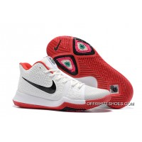 Outlet Nike Kyrie 3 White Red Black