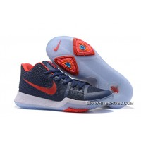 Outlet Nike Kyrie 3 Obsidian Blue/White-Red