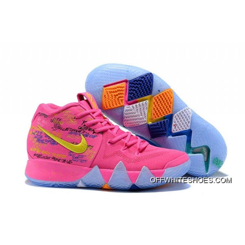 """new products ae8dc 2ba09 Nike Kyrie 4 """"What The"""" Pink/Teal Christmas Online"""