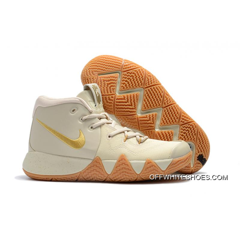 c23e2a33402 Online Nike Kyrie 4 Gray Rice Gold ...