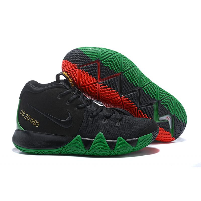"b672bffc35c8 Top Deals Nike Kyrie 4 ""BHM"" Black Green Red Metallic Gold ..."