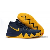 "ce0e5d794fcb Top Deals Nike Kyrie 4 ""Cavs"" Midnight Navy Yellow"