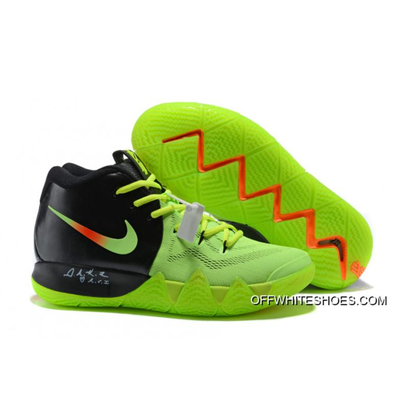official photos bf30f 70c29 New Style Nike Kyrie 4 Green Black Orange