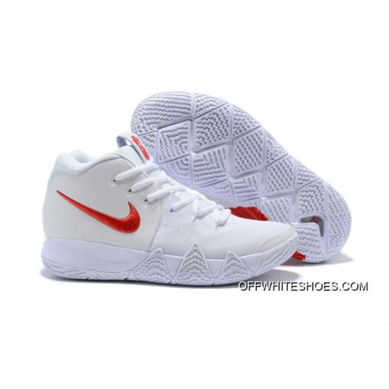 """9f97be0d2496 Nike Kyrie 4 """"Half Heart"""" White Red Latest ..."""