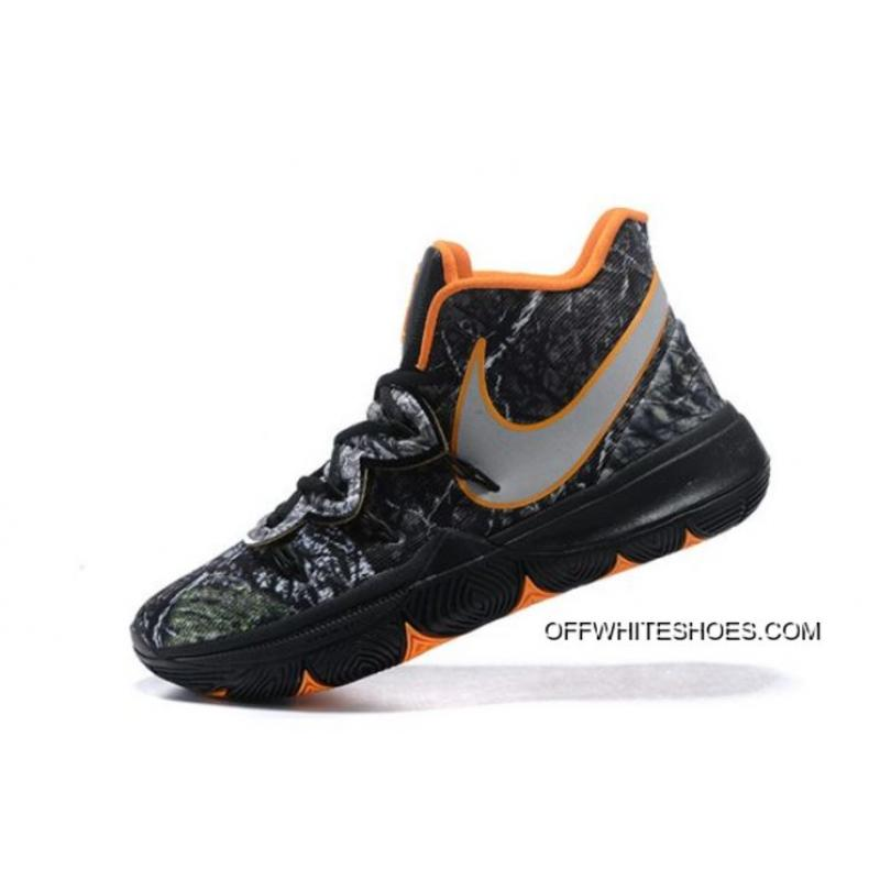 "best website 8dd8d d3439 Women Men Authentic Nike Kyrie 5 ""Taco"" PE Wood Camo Black Orange ..."