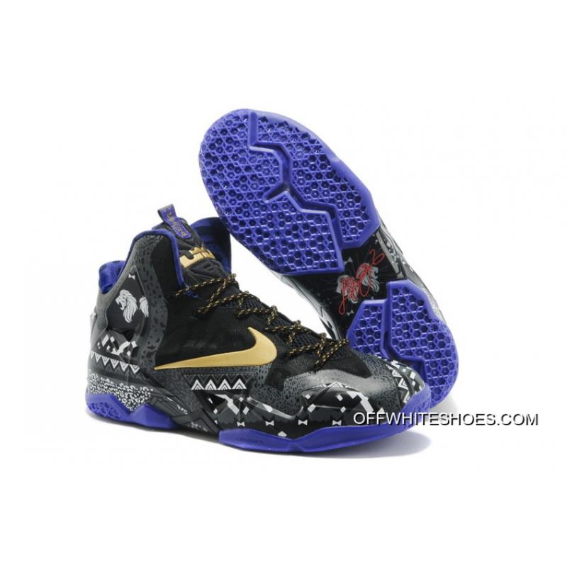 "Nike LeBron 11 ""BHM"" Anthracite Metallic Gold-Purple Venom Top Deals ... d1462c785"