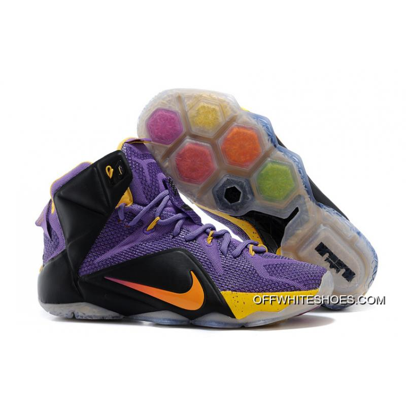 4def3cfa7b0ba Copuon Nike LeBron 12 Purple Black-Yellow ...