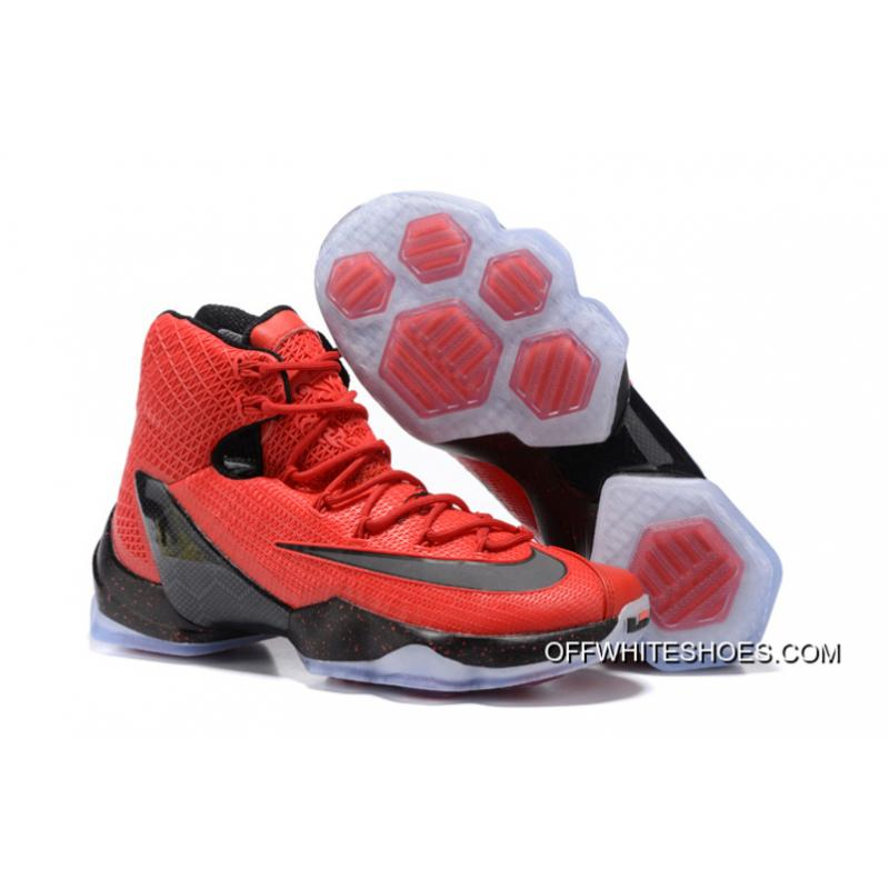 "super popular 1b7a9 b9ee3 Off-White Free Shipping Nike LeBron 13 Elite ""University Red"" ..."