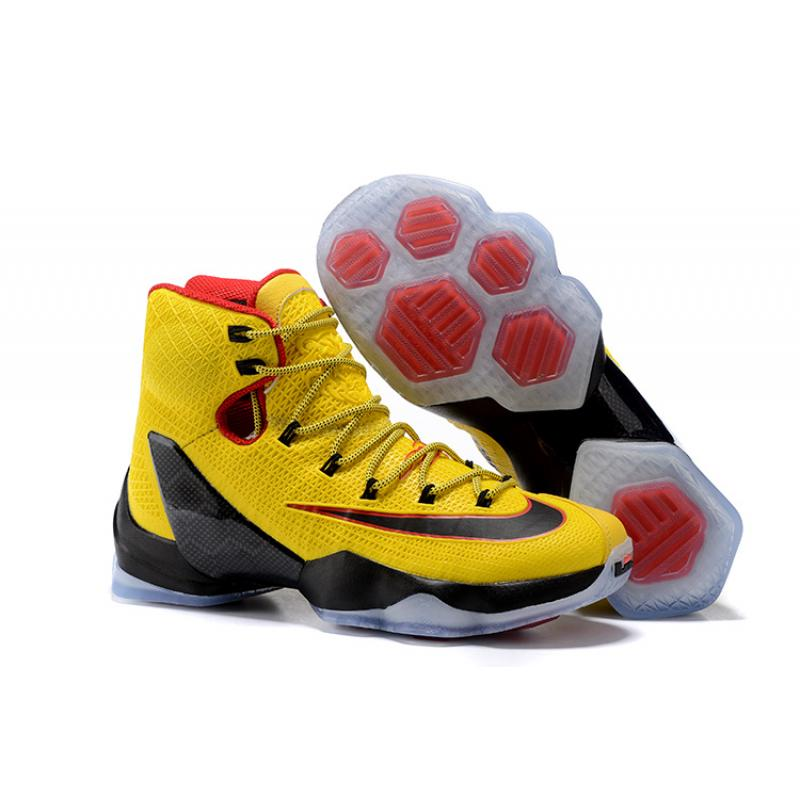 9f7d2791e7f4 Nike LeBron 13 Elite Yellow Black-Red New Release ...
