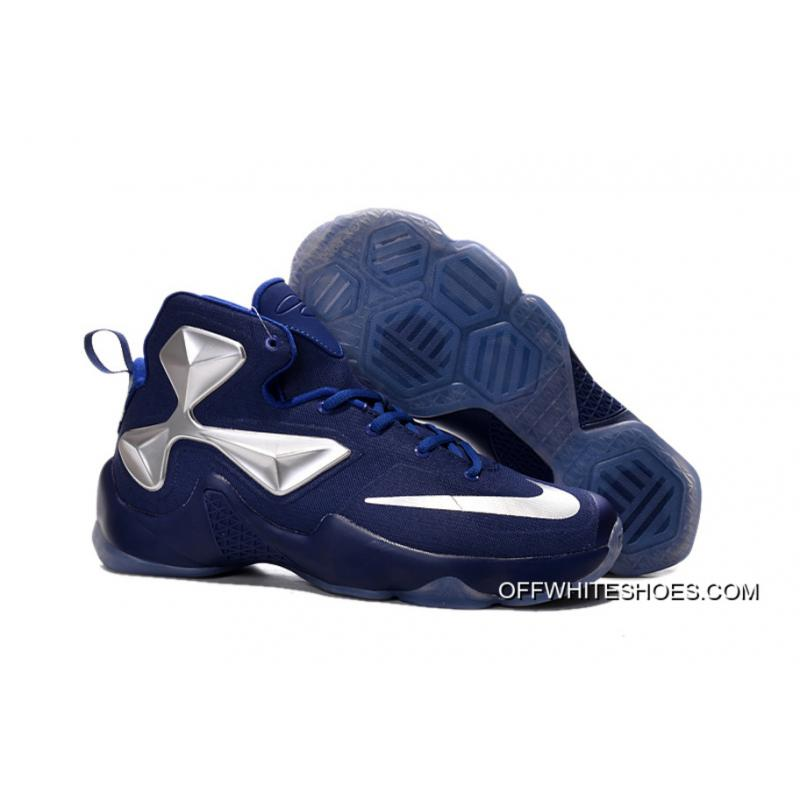 buy online a933d d72ed ... Nike LeBron 13 Denim Blue Metallic Silver Men Basketball Shoes Outlet  ... Game Royal Drapes The ...