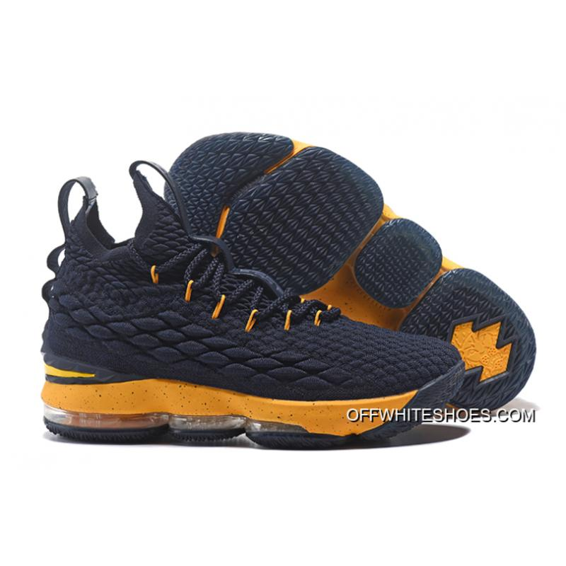 For Sale Nike LeBron James 15 Midnight Navy Yellow ... 2f4f2a995c