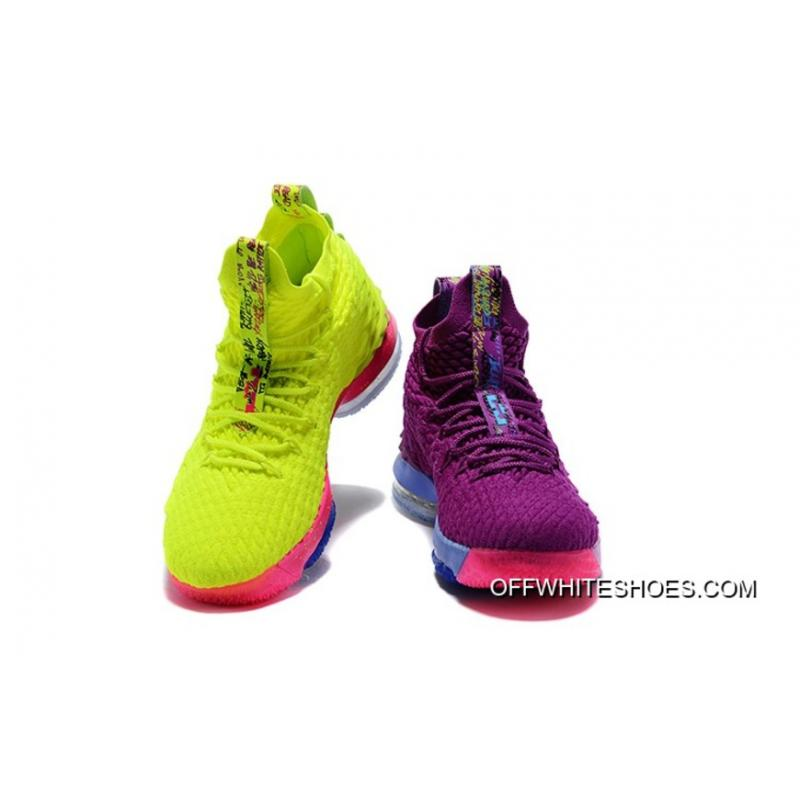 "7590eef304d08 What The Nike Lebron 15 ""Volt   Purple"" Top Deals ..."