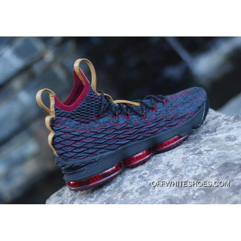 e742cff4a040 Big Deals Nike LeBron 15  New Heights  Navy Blue And Wine Red ...