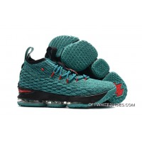 Online Nike LeBron 15 Light Green Black-Red efb96b61c4ad