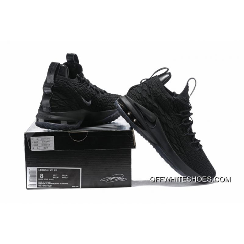 "49ef8d56c0fce ... Authentic Nike LeBron 15 Low ""Triple Black"" Men s Basketball Shoes ..."
