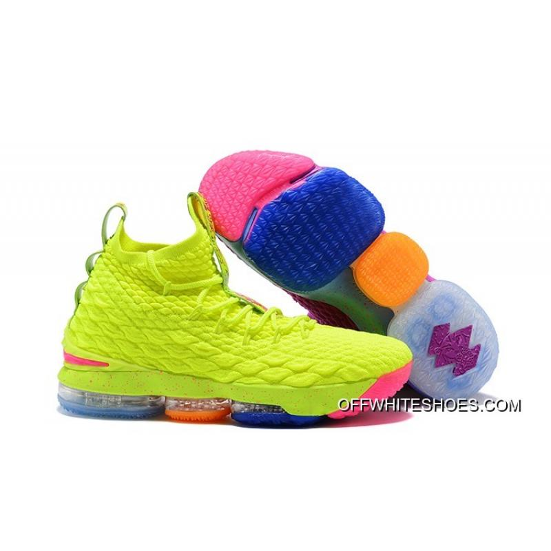 """fdd41f5627b What The Nike Lebron 15 """"Volt   Purple"""" Basketball Shoes Outlet ..."""