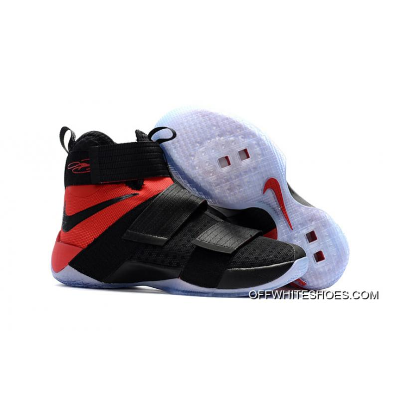"f0a2f4d6d5f5 Off-White Discount Nike LeBron Zoom Soldier 10 ""Team Red"" ..."