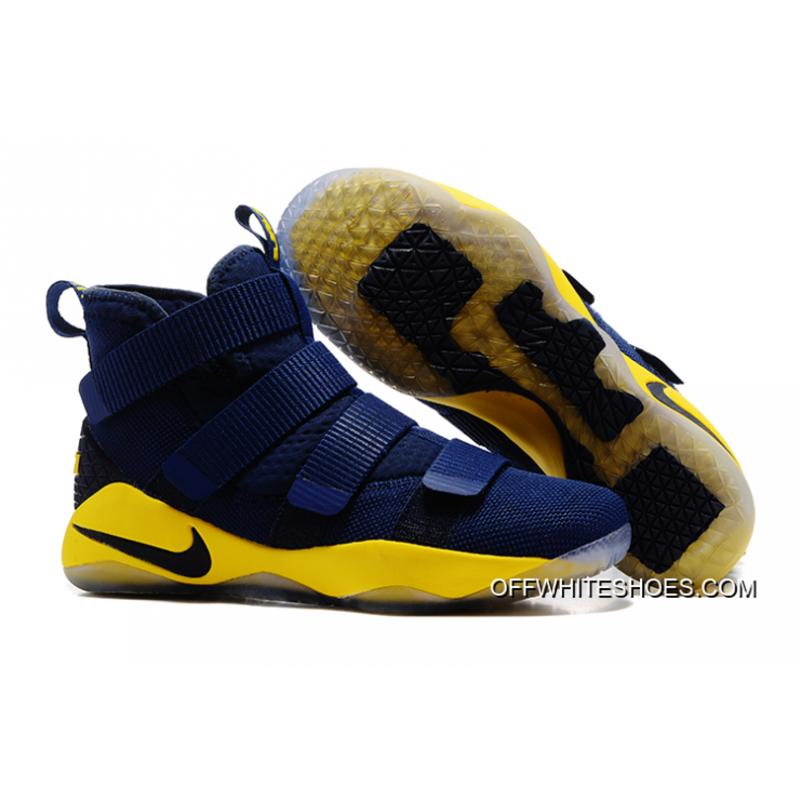Top Deals Nike LeBron Soldier 11 Navy Blue Yellow-Black ... 0c79f8872