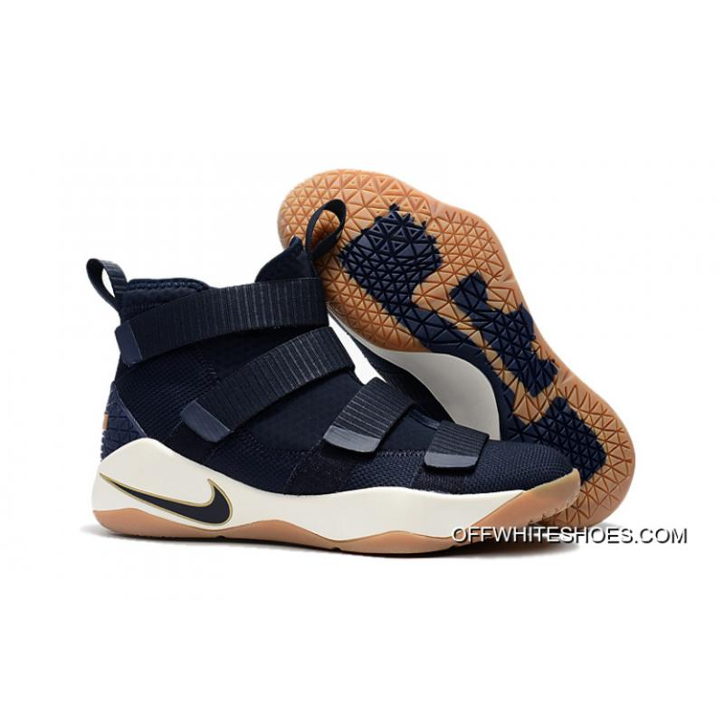 "fd19d1f7f7da Nike LeBron Soldier 11 ""Cavs Alternate"" Midnight Navy Metallic Gold-White  For ..."