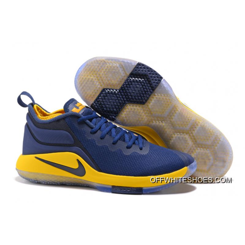 the best attitude 75811 ee02b Top Deals Nike LeBron Zoom Witness 2 Navy Blue Yellow-Black Basketball Shoes  ...