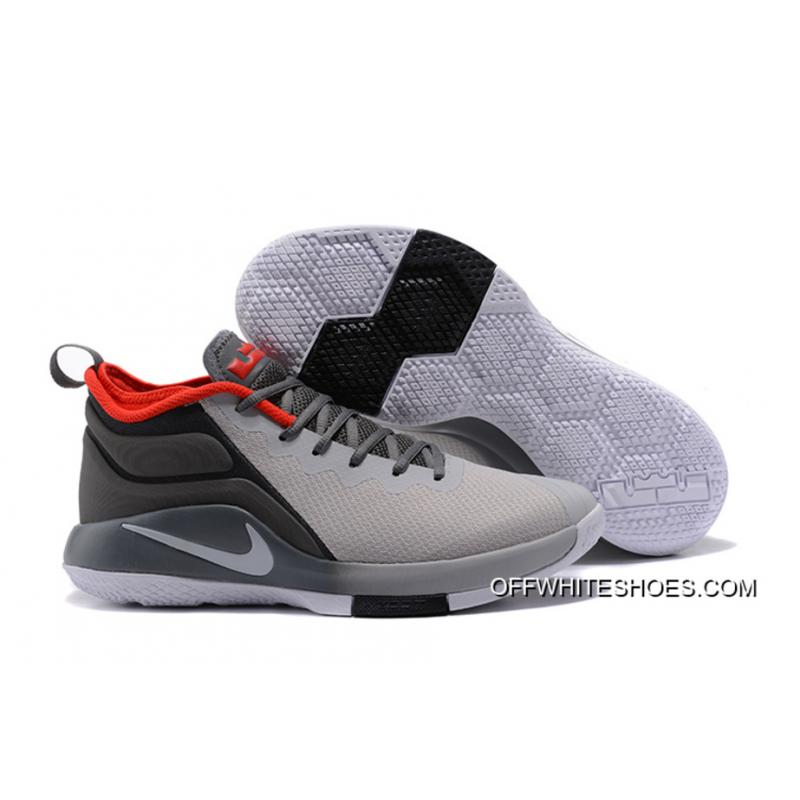 b249d7c28ad Nike LeBron Zoom Witness 2 Grey Black Red Basketball Shoes New Release ...