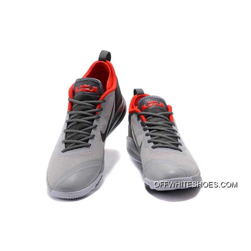 48f427ef097 ... Nike LeBron Zoom Witness 2 Grey Black Red Basketball Shoes New Release  ...