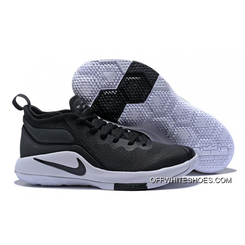 603afc6d5bc ... switzerland outlet nike lebron zoom witness 2 black white basketball  shoes 9af77 8b50f