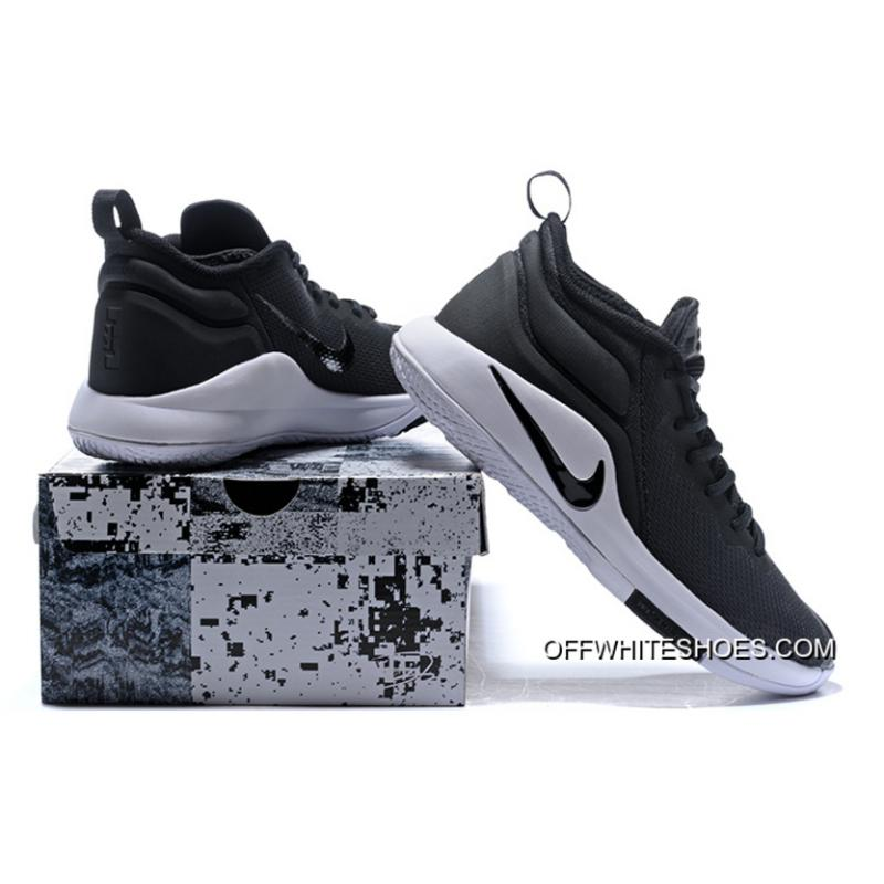 ... Outlet Nike LeBron Zoom Witness 2 Black White Basketball Shoes