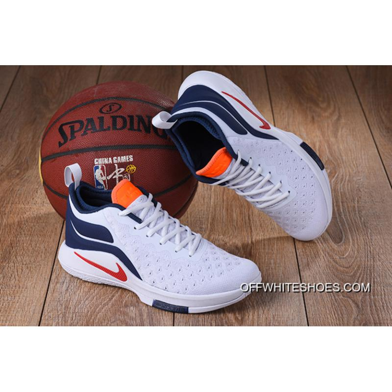 0050e5289e2c Nike Lebron Witness 2 Flyknit White Blue Red Orange New Style ...