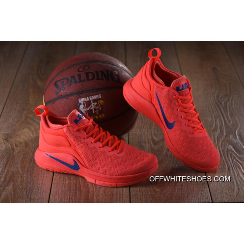 608c02d8290cd Nike Lebron Witness 2 Flyknit Red Blue New Release ...