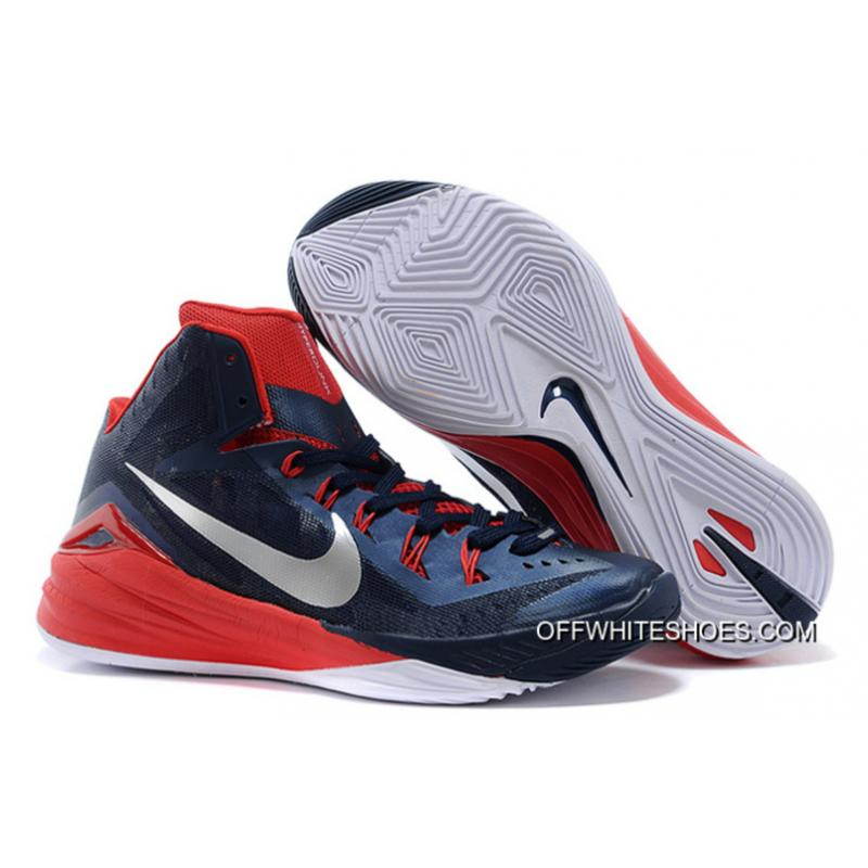"eccc13caf50d Nike Hyperdunk 2014 ""USA Away"" Obsidian White-University Red New Year Deals  ..."
