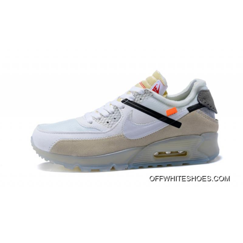 Latest OFF WHITE X Nike Air Max 90 OW 90 Joint Zoom Running Shoes AA7293 100