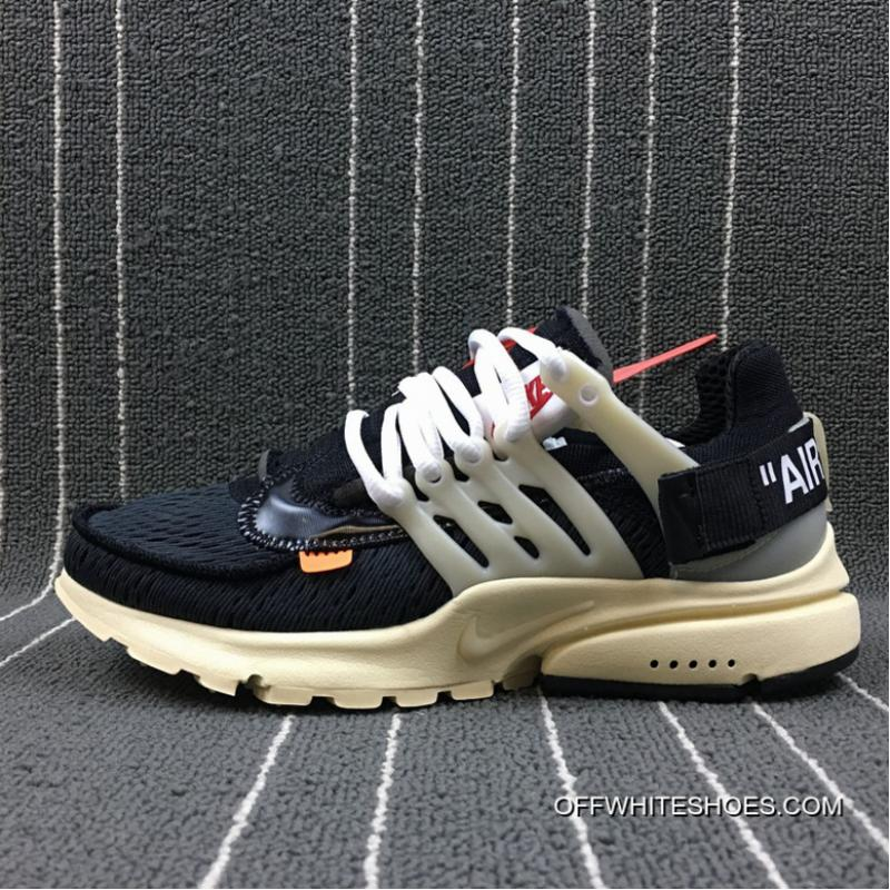 Nike X Off White AIR Presto The Ten OW Joint Limited Joint Running Shoes AA3830 001 Size For Sale