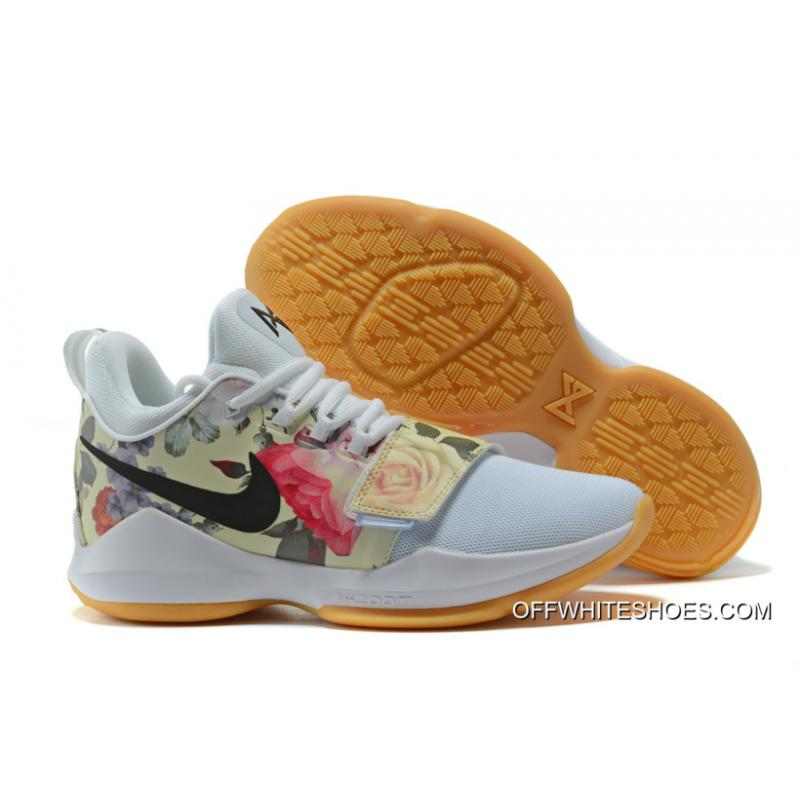 """newest 1075a 077de Nike PG 1 """"White Floral Print"""" Shoes Off-White Discount ..."""