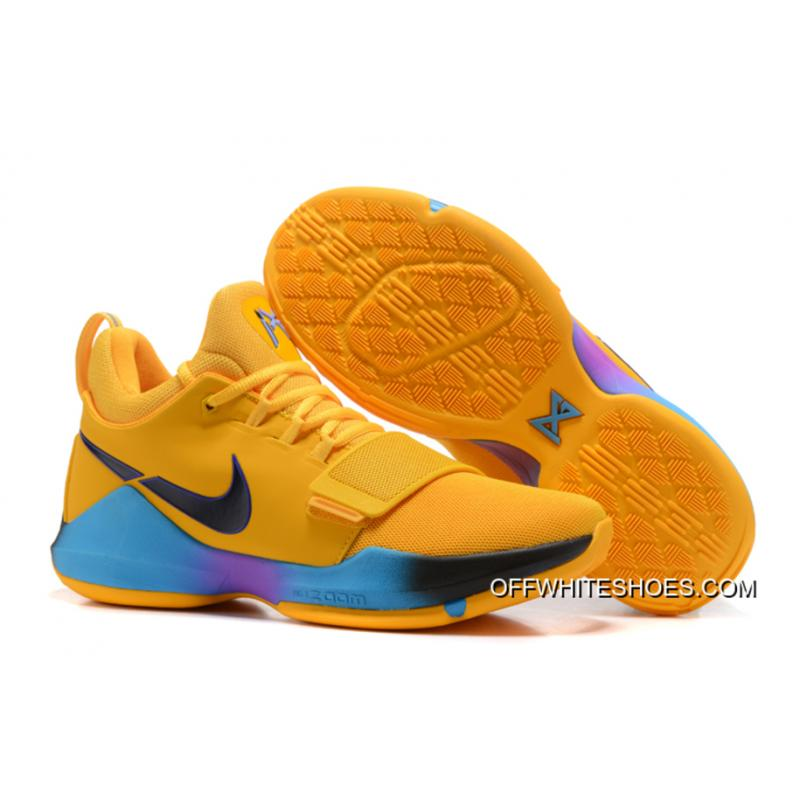 "6bf5293736f7 For Sale Nike Zoom PG 1 ""Flip The Switch"" Yellow Black Blue Violet ..."