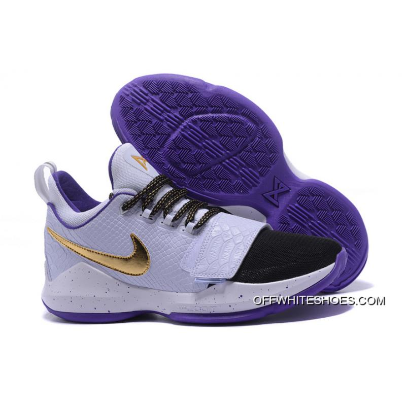38caa98cb63 Latest Nike Zoom PG 1 White Black Purple Gold ...